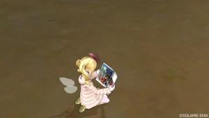 ドラクエ10 しぐさ 画集を読む エルフ