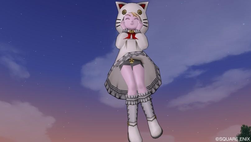ドラクエ10 装備 白猫セット 肉球 黒 スパッツ