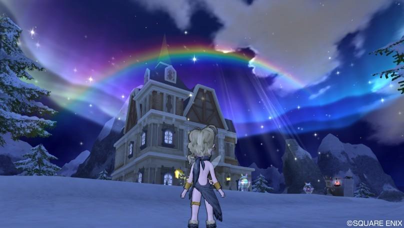 ドラクエ10 家 虹 オーロラ ハウジング 庭具 プラネタリウム