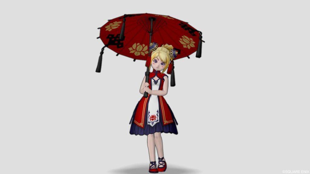 ドラクエ10 2020年 バレンタイン クイーン プレゼント カンフー番傘