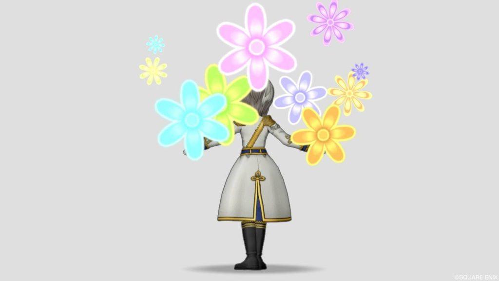 ドラクエ10 2020年 ホワイトデー ナイト プレゼント しぐさ 花を背負う