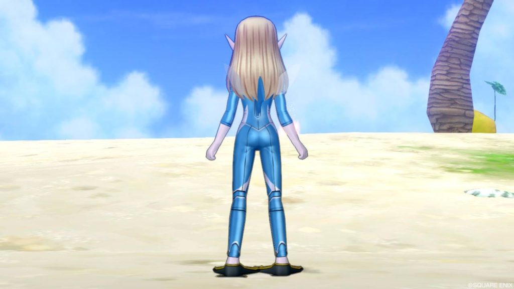 ドラクエ10 夏イベント 2020年 キュララナビーチ 新作水着 サメスーツ 青