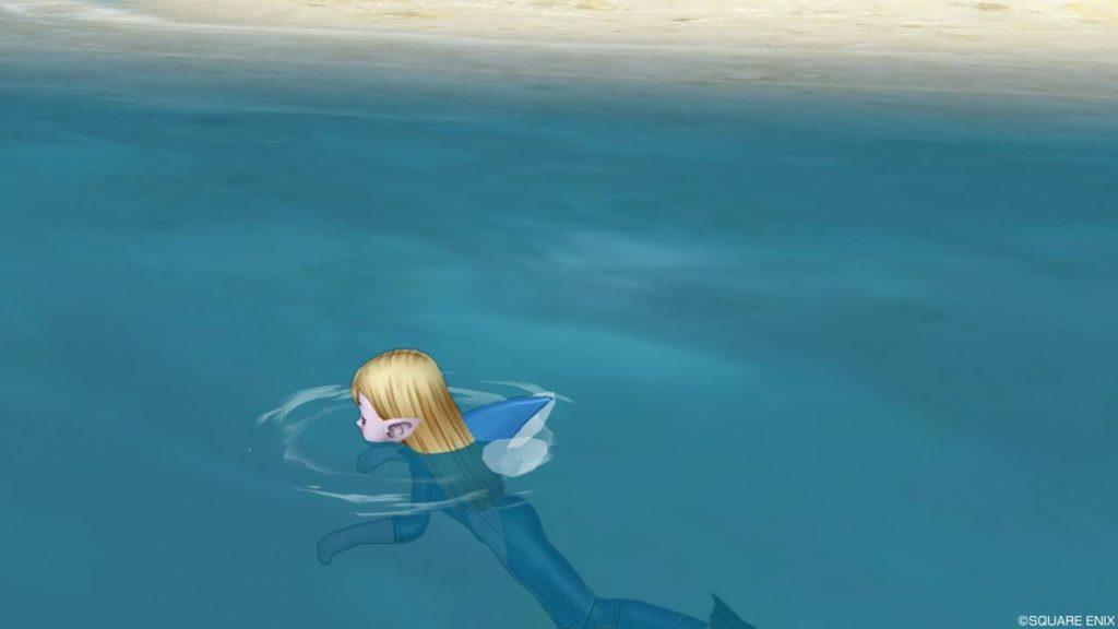 ドラクエ10 夏イベント 2020年 キュララナビーチ 新作水着 サメスーツ 背びれ