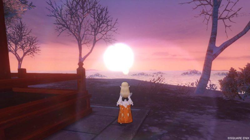 ドラクエ10 2021年 アストルティア 星明の宮 初日の出