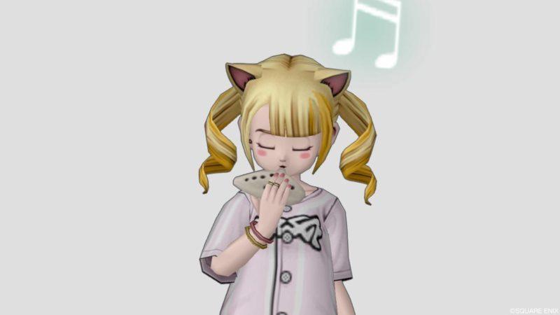 ドラクエ10 しぐさ 演奏 オカリナ 表情 悲しい かわいい