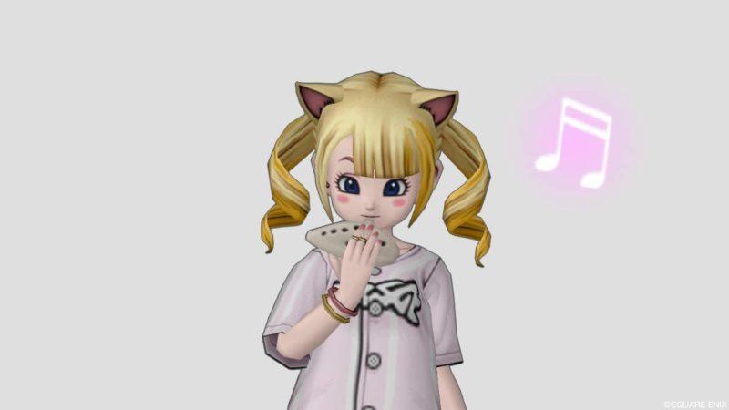 ドラクエ10 しぐさ 演奏 オカリナ 表情 無表情 かわいい