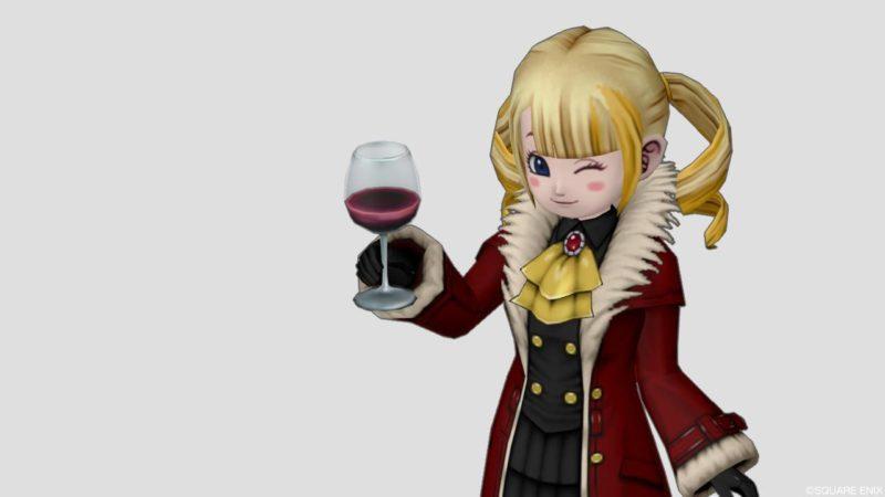 ドラクエ10 しぐさ 乾杯 ワイン グレープジュース
