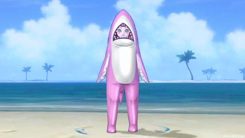 ドラクエ10 夏イベント 2021年 サメきぐるみ・ピンク
