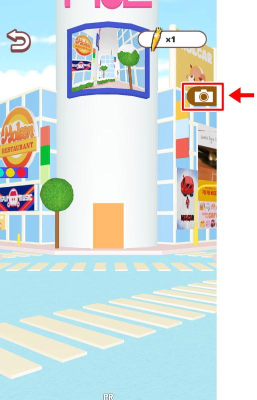 スマホ ゲーム アプリ モルカー もぐもぐパーキング カメラボタン