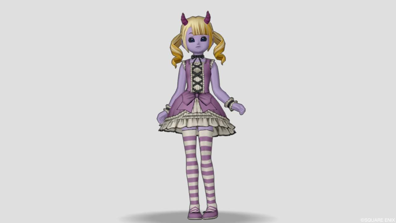 ドラクエ10 魔族 リンベリィのドレスセット かわいい